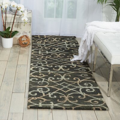 Tahoe Modern Hand-Knotted Charcoal Area Rug Rug Size: Runner 23 x 8