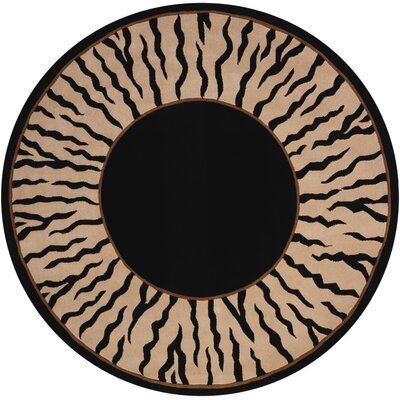 Pleasant Hill Black Area Rug Rug Size: Round 59