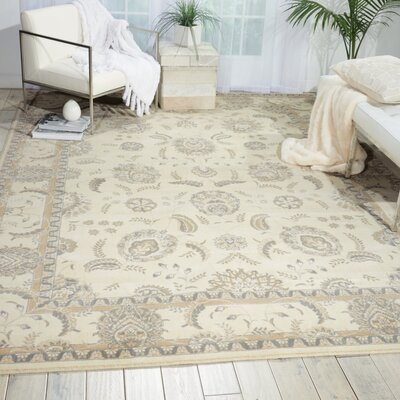 Persian Empire Bone Area Rug Rug Size: Rectangle 36 x 56