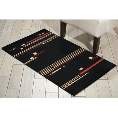 Annelise Black Area Rug Rug Size: Rectangle 23 x 39
