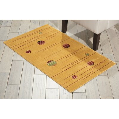Annelise Gold Area Rug Rug Size: Rectangle 23 x 39