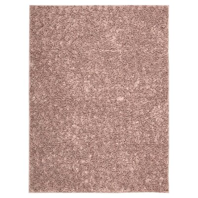Geomar Handmade Pink Area Rug Size: Rectangle 56 x 75