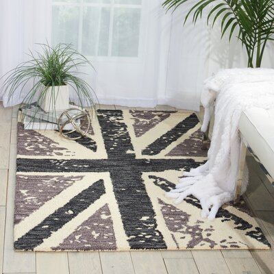 Siam Charcoal Area Rug Rug Size: 36 x 56