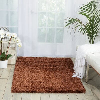 Cera Chocolate Area Rug Rug Size: Rectangle 36 x 56