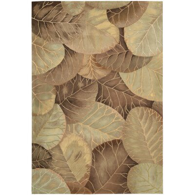 Tropics Brown/Green Novelty Area Rug Rug Size: 53 x 83