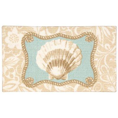 Enhance Doormat Color: Beige/Blue