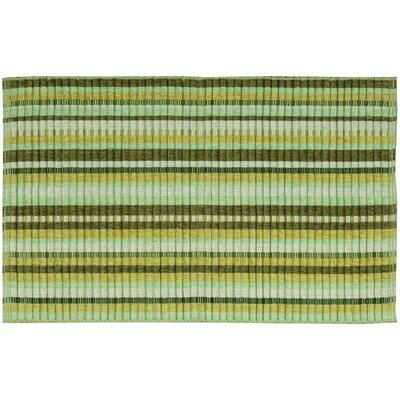 Chenille Woven Doormat Color: Green