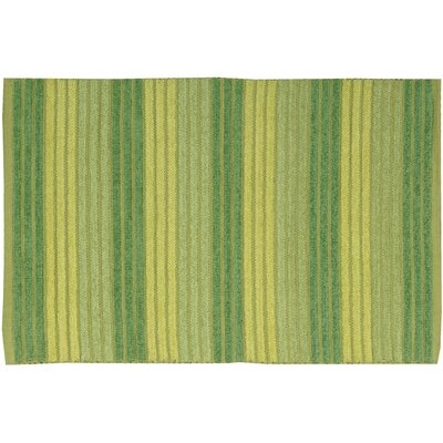 Chenille Ribbed Doormat Rug Size: 18 x 29, Color: Green
