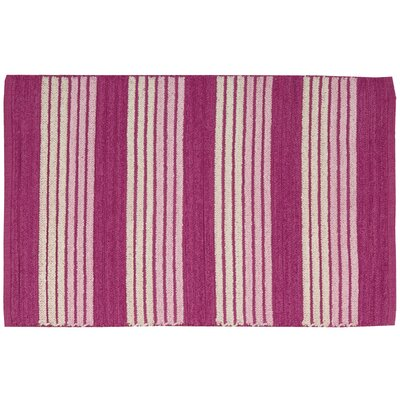 Chenille Ribbed Doormat Rug Size: 23 x 39, Color: Pink