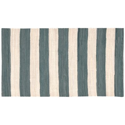Chindi Stripe Doormat Rug Size: 26 x 4, Color: Teal