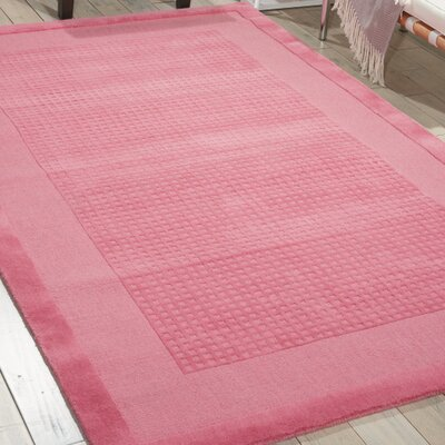 Aspasia Hand-Tufted Pink Area Rug Rug Size: Rectangle 5 x 8