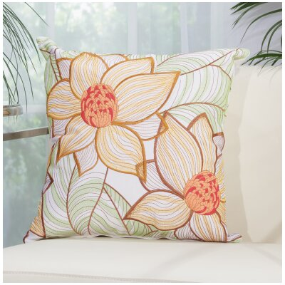 Kayce 2 Sun Flowers Throw Pillow