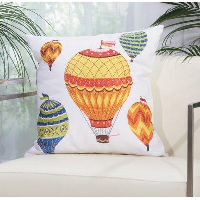 Aranha Hot Air Balloon Outdoor Throw Pillow