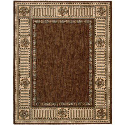 Vallencierre Brown Area Rug Rug Size: 83 x 113