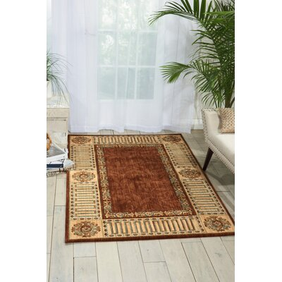 Vallencierre Brown Area Rug Rug Size: 36 x 56