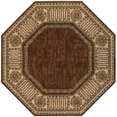 Bryn Brown Area Rug Rug Size: Octagon 56