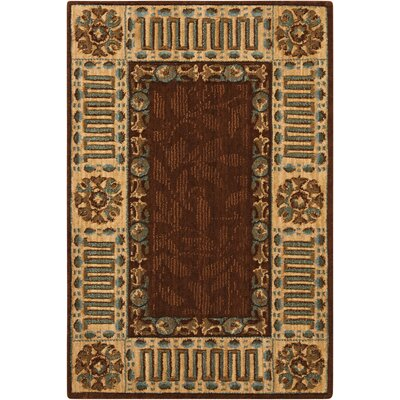 Vallencierre Brown Area Rug Rug Size: 2 x 3