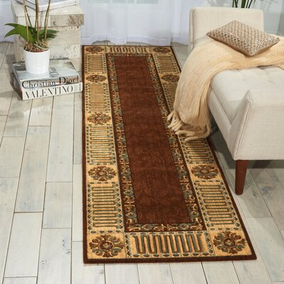 Bryn Brown Area Rug Rug Size: Runner 23 x 8
