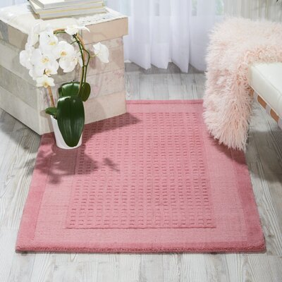 Aspasia Hand-Tufted Pink Area Rug Rug Size: Rectangle 26 x 4