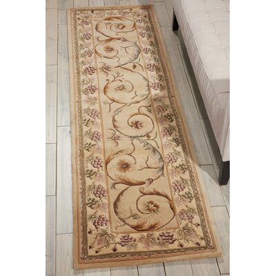 Bette Hand-Tufted Beige Area Rug Rug Size: Runner 23 x 8