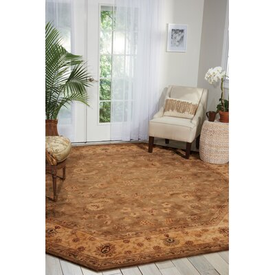 Hand Woven Wool Brown Indoor Area Rug Rug Size: Round 10