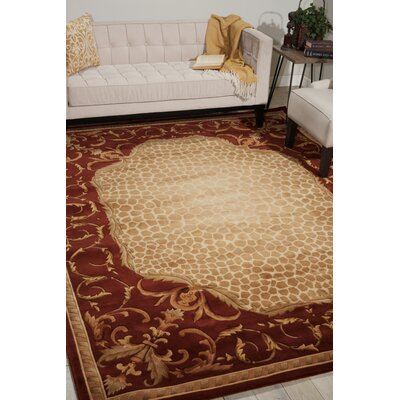Caldanagh Red Area Rug Rug Size: Rectangle 7'6