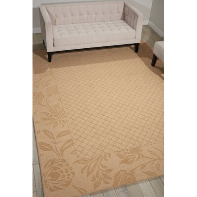 Riverwoods Hand-Loomed Light Gold Area Rug Rug Size: 53 x 74