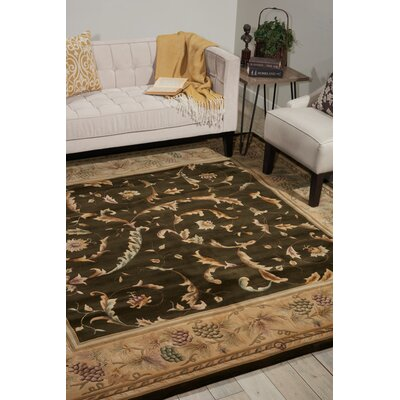 Versailles Palace Olive Area Rug Rug Size: Round 8