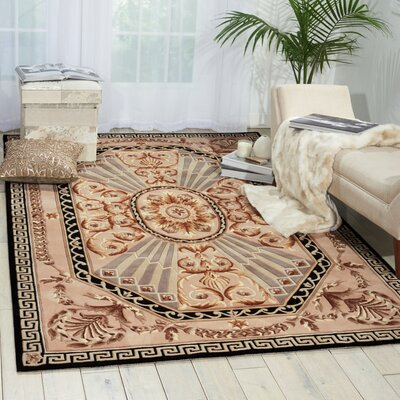 Versailles Palace Hand-Tufted Beige Area Rug Rug Size: Rectangle 76 x 96