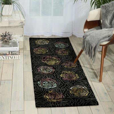 Tarah Black Area Rug Rug Size: Runner 2 x 59
