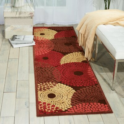 Illusions Brown Area Rug Rug Size: 2 x 5