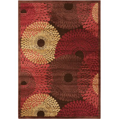 Illusions Brown Area Rug Rug Size: 19 x 29