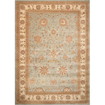 Hand Woven Wool Blue Indoor Area Rug  Rug Size: 86 x 116