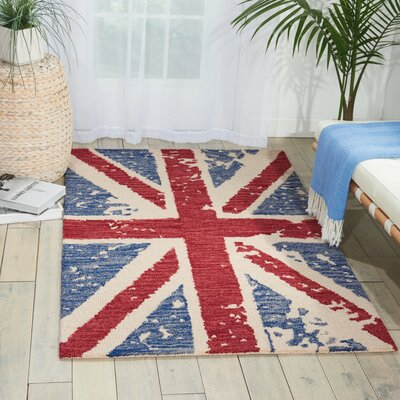 Siam Red Area Rug Rug Size: 5'6