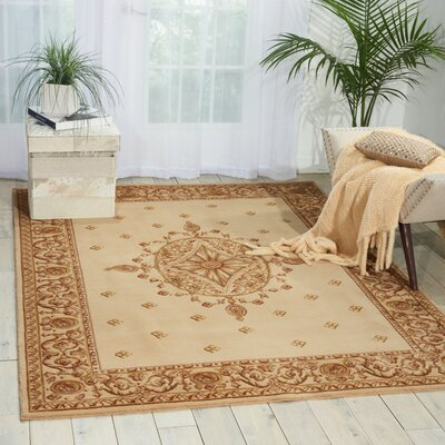 Payzley Beige Area Rug Rug Size: Rectangle 56 x 75