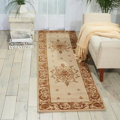 Ashton House Beige Area Rug Rug Size: Runner 2'3