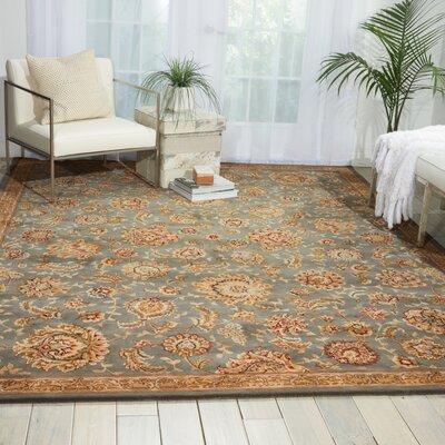 Hand Woven Wool Slate Indoor Area Rug Rug Size: 86 x 116