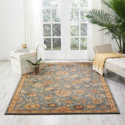 Hand Woven Wool Slate Indoor Area Rug Rug Size: 39 x 59