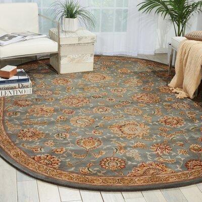 Hand Woven Wool Slate Indoor Area Rug Rug Size: 76 x 96