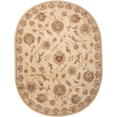 Hand Woven Wool Beige Indoor Area Rug Rug Size: 76 x 96