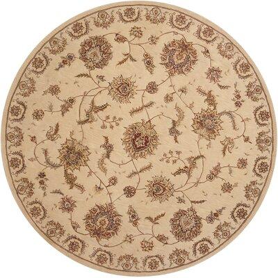 Hand Woven Wool Beige Indoor Area Rug Rug Size: Round 8