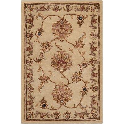 Hand Woven Wool Beige Indoor Area Rug Rug Size: 2 x 3