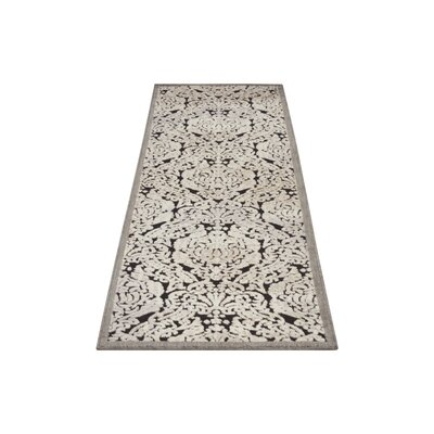 Illusions Black Area Rug Rug Size: Runner 23 x 8