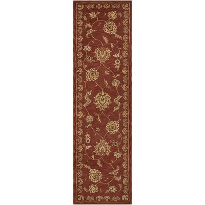Hand-Tufted Rust Area Rug Rug Size: Runner 23 x 8