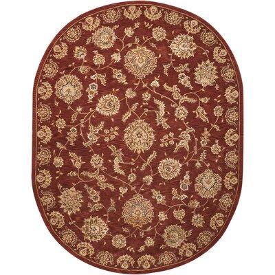 Hand Woven Wool Rust Indoor Area Rug Rug Size: 76 x 96