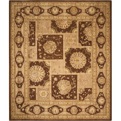 Nourison 3000 Hand-Tufted Brown/Tan Area Rug Rug Size: 12 x 15