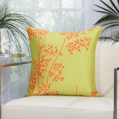 Weeds Outdoor Throw Pillow Color: Green