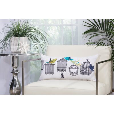 Bird Cages Outdoor Throw Pillow Size: 14 H x 20 W
