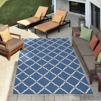 Crestmont Navy Indoor/Outdoor Area Rug Rug Size: Rectangle 53 x 75