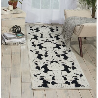 Illusions Black Area Rug Rug Size: 36 x 56